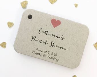 Bridal Shower Thanks for Coming! Tags, Bridal Shower Favor Tags, Small Shower Favor Tags (RR-031-H-KR)