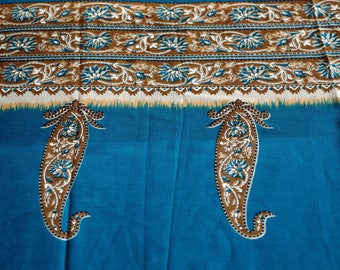 Coupon Voile Sari Indian printed 110 cm x 50 cm