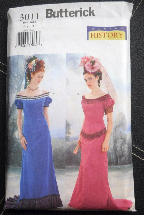 Butterick 3011 Edwardian Titanic Style Ball Gowns with