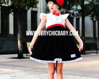 Mary Poppins Dress, Mary Poppins Dress Girls, Mary Poppins Costume, Mary Poppins Costume Girls, Mary Poppins Outfit, Mary Poppins