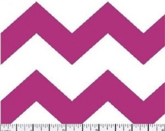1 inch Chevron --- Shocking Pink Chevron -- Medium Chevron --- Fabric By The Yard