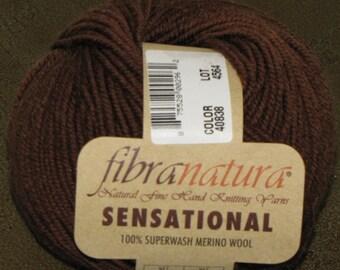 Fibranatura Sensational Superwash Merino Wool Yarn Color 40838 Bison Lot 4564