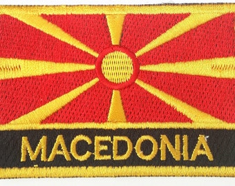 Macedonia Embroidered Sew or Iron on Patch Badge
