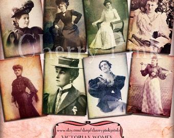 Women vintage images, digital paper printable collage sheet, Paper Ephemera, vintage old photographs, Instant Download