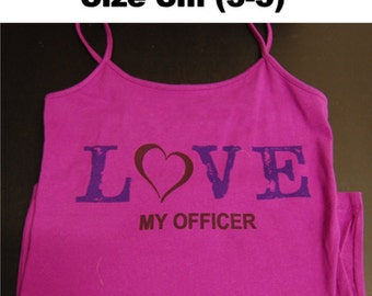 Love My Officer Camisole, size Small 3-5