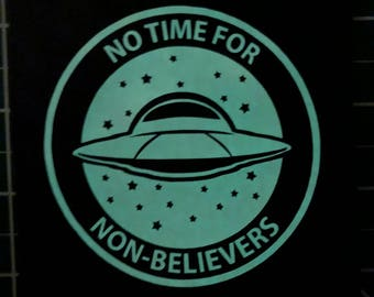 GLOW in the DARK No Time For Non-Believers - Canvas Patch
