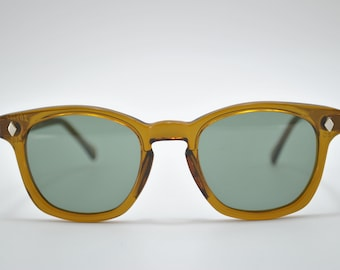 Custom Sunglasses Honey frame with green lens, American made