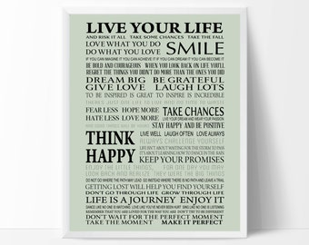 Live Your Life Print - PDF