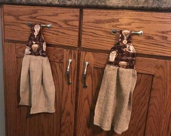 Set of hanging dish towel