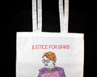 Stranger Things, Justice For Barb, Tote Bag