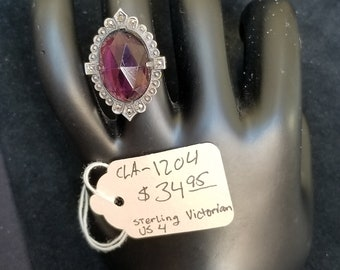 Ring- Victorian silver and Amethyst