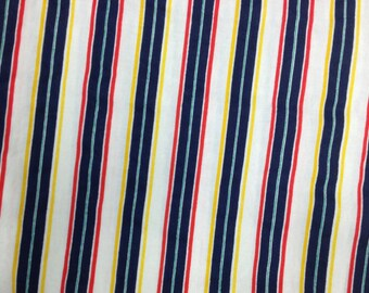 Stripe Fabric / Cotton Fabric / Extra Wide Cotton - 2 3/8 Yards - Multicolor Stripe / Blue Stripe / Extra Wide Fabric / Quilting Fabric