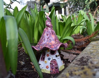Ceramic Fairy house for Fairy garden