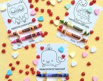 Children's valentine day coloring card