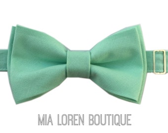 Mint Bow Tie, Mint Green Bow Tie, Adults & Children, Made in the USA, Use Coupon TENOFF5 at checkout for 10% off 5 or more!