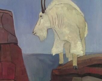 Mountain Goat Original Oil Painting