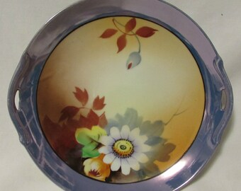 "Plate, Serving, Luster, Hand Painted, Japan, ""Chikaramachi"", 1930's to 1950's"