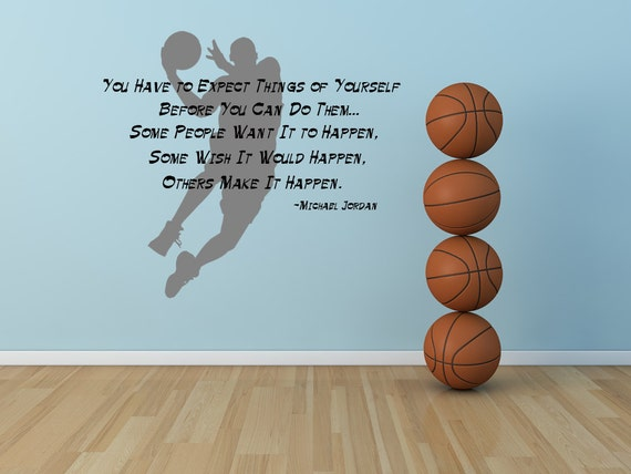 Michael Jordan Wall Decal Michael Jordan Decal Michael