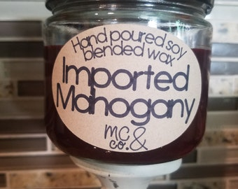 Imported Mahogany Candle
