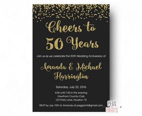 Cheers To  Years Invitation Th Anniversary Invitation
