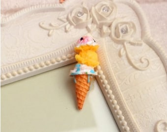 11*36mm resin kawaii ice cream cone cabochon free shipping