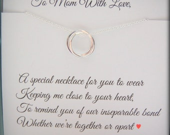 Gifts for MOM, Wedding jewelry for Mom, Mother of the Bride Gift from daughter, Mother of the Groom gift from son, from daughter to mother