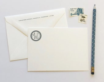 Anderson Monogram Professional Stationery Notecards