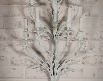 Antique Sconces + Painted Sconces + Whitewashed Sconces +Antique Wall Decor  + Antique Wall Lighting