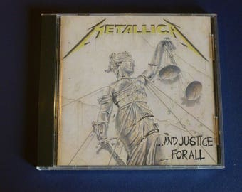 On Sale! Metallica And Justice For All CD 9 60812-2 Electra 1988