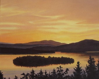Art Print - Rangeley Lake in September