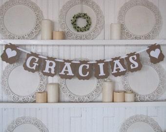 GRACIAS Banner, Thank You Banner, Spanish Thank You, Wedding Sign, Wedding Decor
