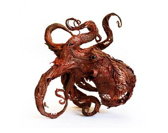 "strange and gentle II - octopus  - Original Giclee Edition Print - 13x19"""