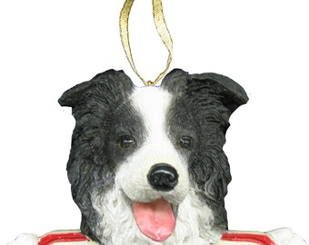 Border Collie Ornament With Personalized Name Plate A Great Gift For  Border Collie Lovers