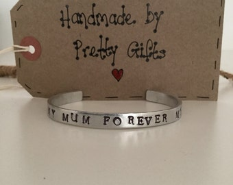 Handstamped Bangle For Her, Birthday, Mother's Day Keepsake Gift
