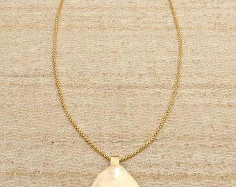 Gold Necklace – Gold Statement Necklace – Gold Layering Necklace – Layering Necklace – Statement Necklace – Gold Pendant – Gold Filled