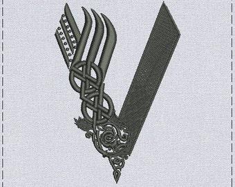 Vikings logo machine embroidery design