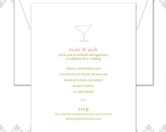 Martini Rehearsal Dinner Invite