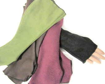 Arm Warmers, Fingerless Gloves Fleece Wrist Hand Warmers, Gift For Her, Handmade Harry Potter, Halloween Christmas Gift Women Hanukkah