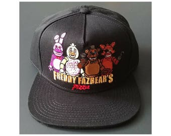 Five Nights at Freddys Snapback One Size Cap Hat ~ FNAF Perfect for Birthday Boy