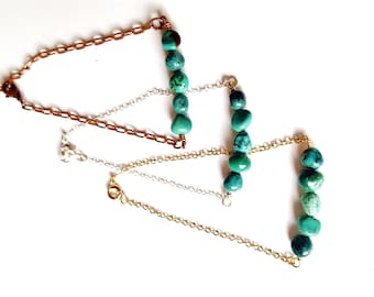 MIJA bracelet 925 sterling silver and natural turquoise stones