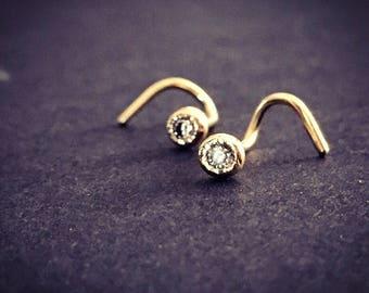 Diamond Septum Ring Diamond Piercing Diamond Nose Ring