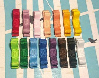 Tuxedo Hair Clips - Partially Lined Alligator Clips - Rainbow Barrettes - Solid Colored Clippies (Set of 1)5