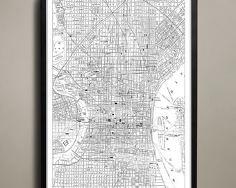 Philadelphia City Map - Philadelphia City Poster - Philadelphia Map - Philly Map Print - Philadelphia Poster - Map of Philly City