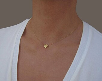 Dainty Star Necklace, Gold Necklace Dainty, Star Jewelry, Silver Star, Thin Chain Necklace, Simple Chain, Star Charm, Layering Necklace