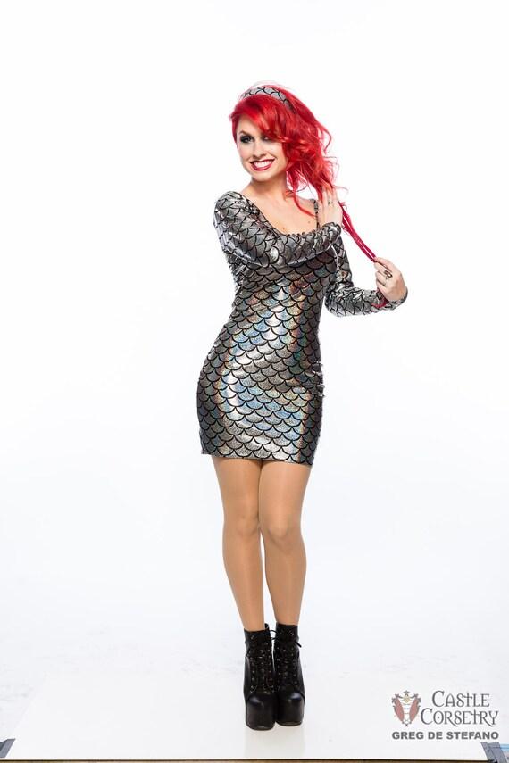 Mermaid Long Sleeved Mini Dress
