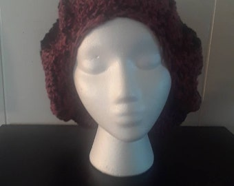 Red and Pink Slouchy Tam