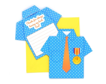 DIY Father's Day Origami Shirt Card Kit - Office Hero Design
