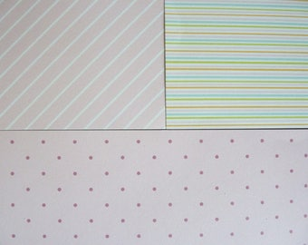 set of 3 sheets of 20 x 20 cm: graphic