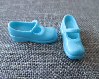 used Barbie Doll shoes blue rubber mary janes laufer style shoes