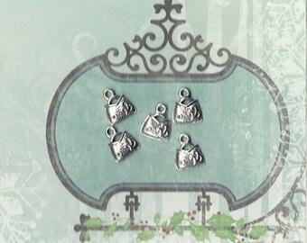 5 Silver handbag charm